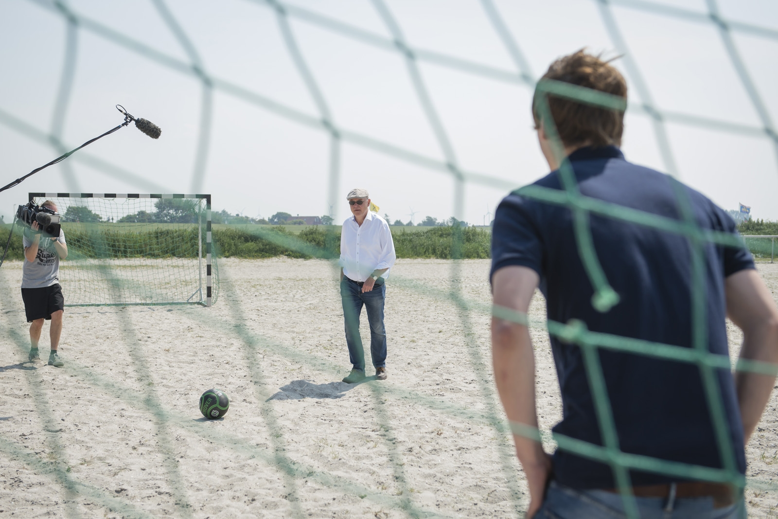 Fussballspiel am Strand von Harlesiel